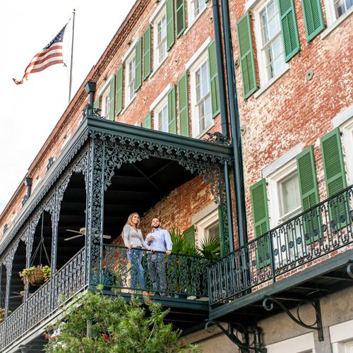 The Marshall House Hotel in Savannah, GA
