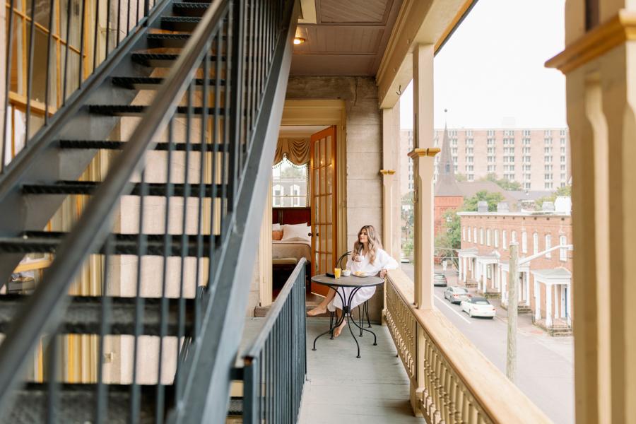 Balcony access from Mary Telfair Guest Room