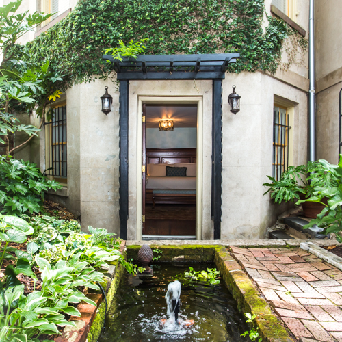 Private Entrance to the Garden Room